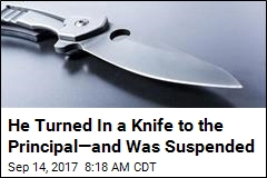 He Turned In a Knife to the Principal—and Was Suspended