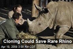Cloning Could Save Rare Rhino