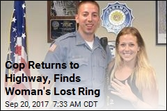 Cop Returns to Highway, Finds Woman's Lost Ring