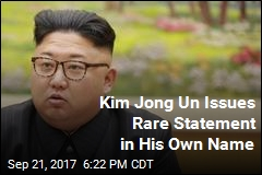 Kim Jong Un Issues Rare Statement in His Own Name