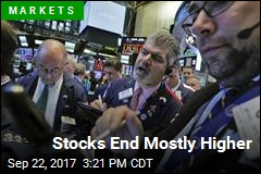 Stocks End Mostly Higher