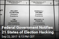 Federal Government Notifies 21 States of Election Hacking