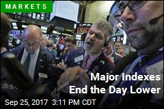 Major Indexes End the Day Lower