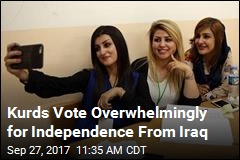Kurds Vote Overwhelmingly for Independence From Iraq