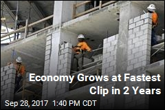 Economy Grows at Fastest Clip in 2 Years
