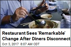 To Get Diners Off Phones, Restaurant Gets Creative