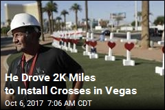 He Drove 2K Miles to Install Crosses in Vegas