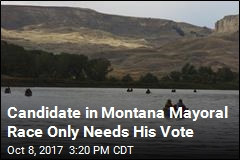 Candidate in Montana Mayoral Race Only Needs His Vote