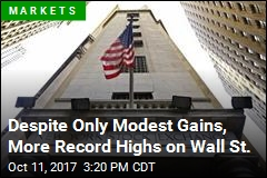 Modest Gains for Stocks Set More Records