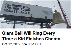 Giant Bell Will Ring Every Time a Kid Finishes Chemo