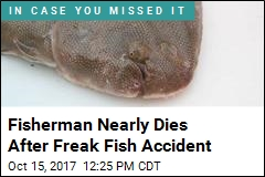 Fisherman Nearly Dies After Freak Fish Accident