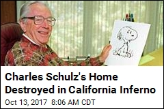 Lost in California Wildfires: Peanuts Creator's Home