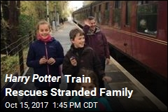 Harry Potter Train Rescues Stranded Family
