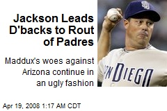 Jackson Leads D'backs to Rout of Padres