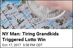 NY Man: Tiring Grandkids Triggered Lotto Win
