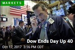 Dow Ends Day Up 40