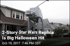 2-Story Star Wars Replica Is Big Halloween Hit