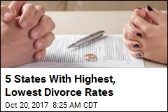 5 States With Highest, Lowest Divorce Rates
