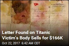 Letter Found on Titanic Victim Sells for $166K