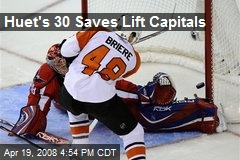 Huet's 30 Saves Lift Capitals
