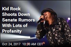 Kid Rock Shoots Down Senate Rumors With Lots of Profanity