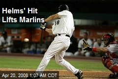 Helms' Hit LIfts Marlins