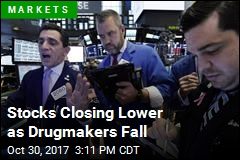 Stocks Closing Lower as Drugmakers Fall