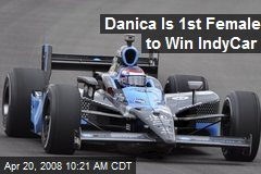 Danica Is 1st Female to Win IndyCar