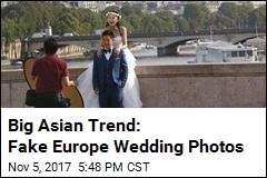 Big Asian Trend: Fake Europe Wedding Photos