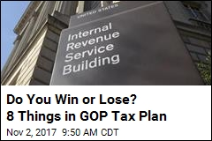Do You Win or Lose? 8 Things in GOP Tax Plan