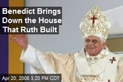 Benedict Brings Down the House That Ruth Built