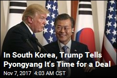 In South Korea, Trump Tells Pyongyang It's Time for a Deal