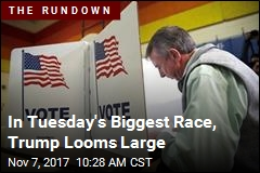 In Tuesday's Biggest Race, Trump Looms Large