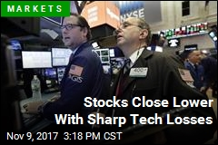 Stocks Close Lower With Sharp Tech Losses