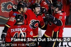 Flames Shut Out Sharks, 2-0