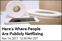 7% of People Admit Watching Netflix in Public Restrooms