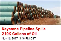 Keystone Pipeline Spills 210K Gallons of Oil