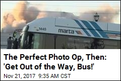 The Perfect Photo Op, Then: 'Get Out of the Way, Bus!'