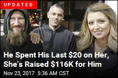 Woman Raises Over $60K for Homeless Man Who Helped Her