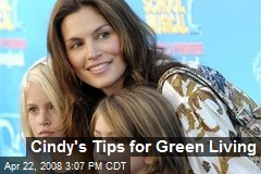 Cindy's Tips for Green Living