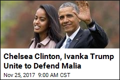 Chelsea Clinton, Ivanka Trump Unite to Defend Malia