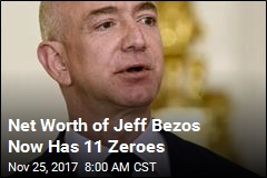 Net Worth of Jeff Bezos Now Has 11 Zeroes