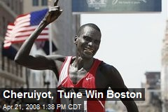 Cheruiyot, Tune Win Boston