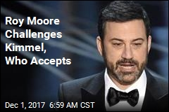 Jimmy Kimmel Accepts Roy Moore's Invitation