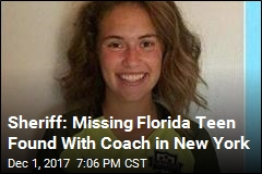 Sheriff: Missing Florida Teen Found With Coach in New York