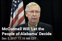 McConnell Will 'Let the People of Alabama' Decide