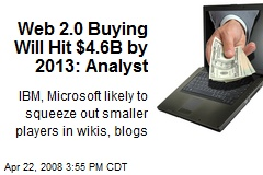 Web 2.0 Buying Will Hit $4.6B by 2013: Analyst