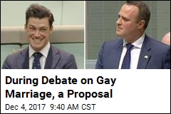 During Debate on Gay Marriage, a Proposal