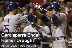 Garciaparra Ends Homer Drought