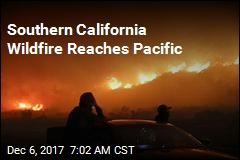 Southern California Wildfire Reaches Pacific